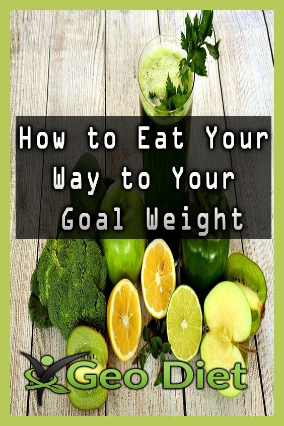 How to Eat Your Way to Your Goal Weight Pinterest