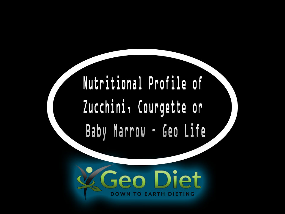 Nutritional Profile of Zucchini, Courgette or Baby Marrow – Geo Life