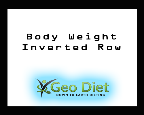 Body Weight Inverted Row