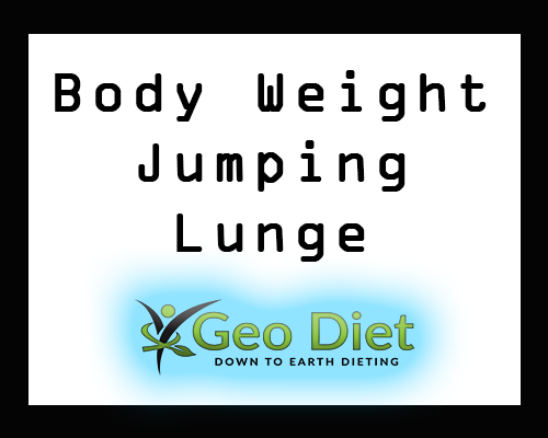 Body Weight Jumping Lunge