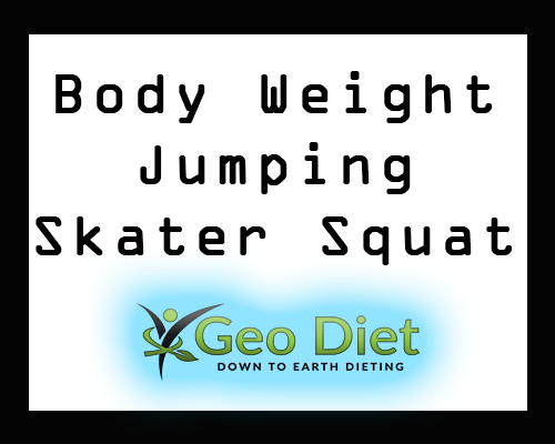 Body Weight Jumping Skater Squat