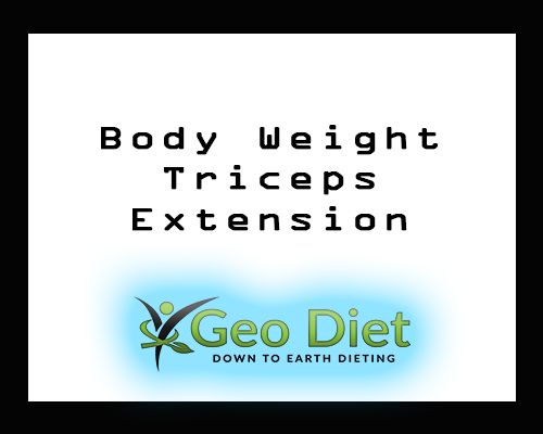 Body Weight Triceps Extension
