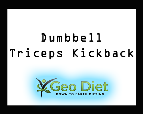 Dumbbell Triceps Kickback