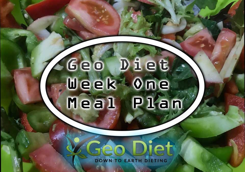 Meal Plan Week One Geo Diet