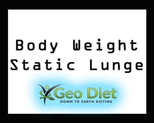 Body Weight Static Lunge